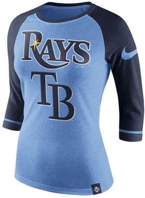 Nike Women's Tampa Bay Rays Tri Raglan T-Shirt