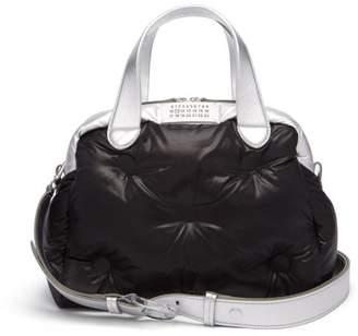 Maison Margiela Glam Slam Leather Bowling Bag - Womens - Black Silver