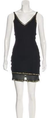 Malo Embellished Silk Dress w/ Tags