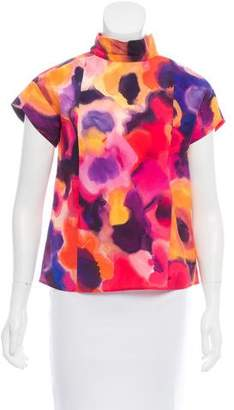 Chanel Silk Watercolor Top