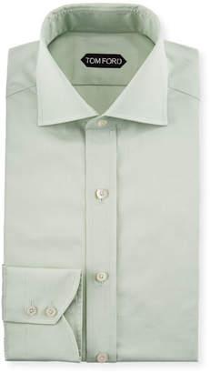 Tom Ford Slim-Fit Solid-Color Poplin Barrel-Cuff Dress Shirt