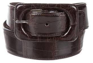 Carlos Falchi Alligator Buckle Belt