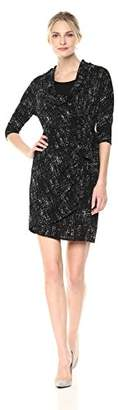 Robbie Bee Women's Cowl Neck Sheath Dress