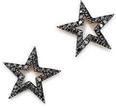Bloomingdale's Black Diamond Star Stud Earrings in 14K Yellow Gold, 0.33 ct. t.w. - 100% Exclusive