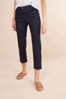 Next Womens Rinse Cropped Jeans - Blue