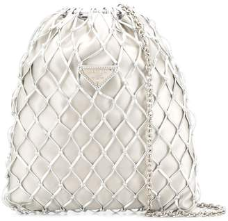 Prada net crossbody bag