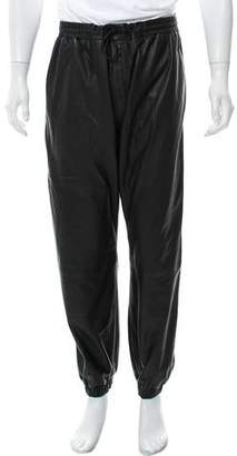Alexander Wang Leather Jogger Pants