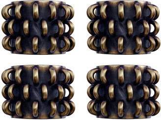 L'OBJET Tulum Napkin Rings - Set of 4