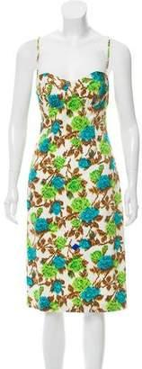 Milly Floral Print Midi Dress