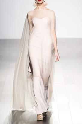 Badgley Mischka Strapless Evening Gown