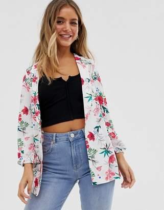 Pimkie floral print blazer in multi