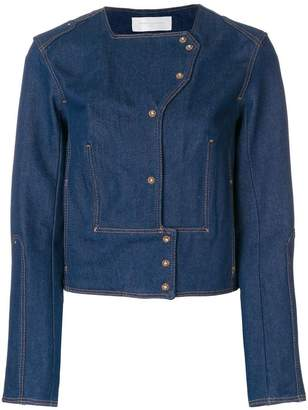 Esteban Cortazar crop denim jacket