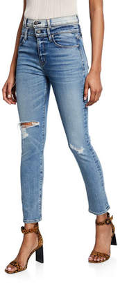 Hudson Holly High-Rise Straight Ankle Jeans with Double Waistband