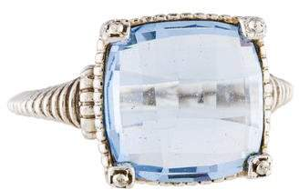 Judith Ripka Crystal Cocktail Ring