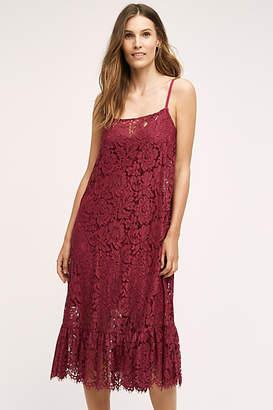 Plenty by Tracy Reese Flounced Lace Midi Dress
