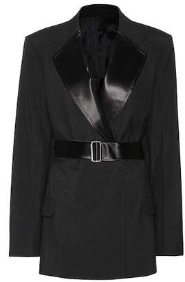 Helmut Lang Wool and mohair blazer