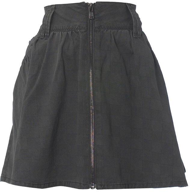 Grey zip skater skirt
