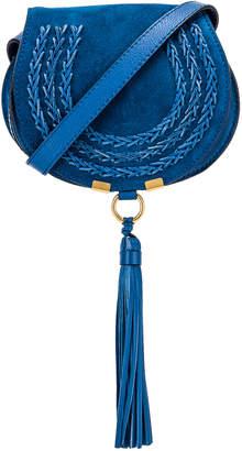 Chloé Small Leather Braid Marcie Satchel in Smoky Blue   FWRD