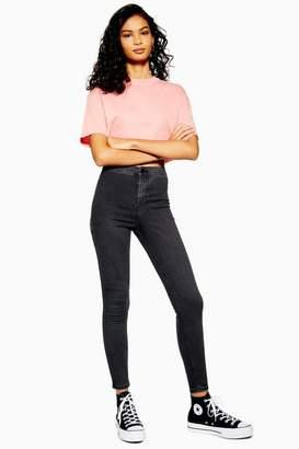Topshop Washed Black Joni Jeans