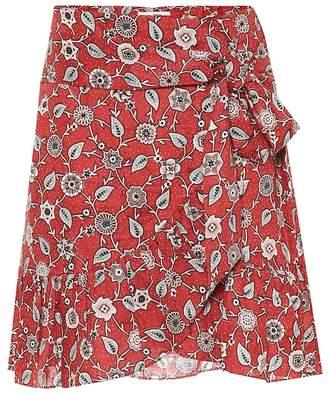 Etoile Isabel Marant Isabel Marant, étoile Printed linen wrap skirt