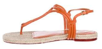 Charlotte Olympia Rattan Leather Sandals w/ Tags