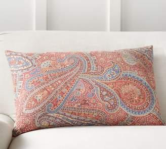 Pottery Barn Gayle Paisley Lumbar Pillow Cover