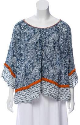 Calypso Linen Paisley Print Blouse