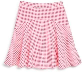 Aqua Girls' Textured Check Skirt, Big Kid - 100% Exclusive