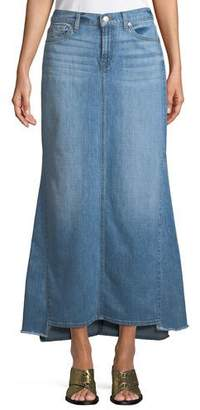 7 For All Mankind Step-Hem Denim Maxi Skirt