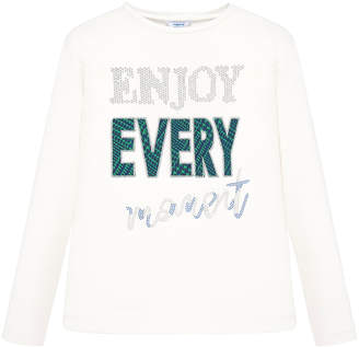 Mayoral Girl's Enjoy Every Moment Long-Sleeve Tee, Size 8-16