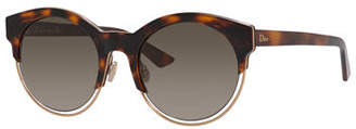 Christian Dior Sideral 1 Cat-Eye Sunglasses, Havana/Rose