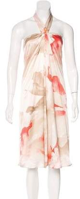 Alexander McQueen Abstract Print Silk Dress
