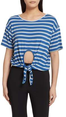 Opening Ceremony Knot Front Stripe Tee
