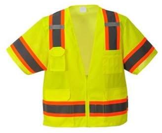 Portwest US373 2XL Aurora Sleeved Hi-Visibility Zippered Vest, Yellow - Regular