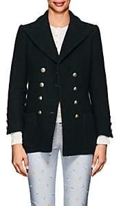 Philosophy di Lorenzo Serafini Women's Wool-Blend Double-Breasted Blazer - Dk. Green