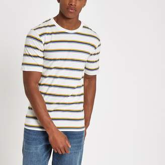 River Island Mens Selected Homme organic cotton stripe T-shirt