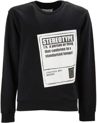 Maison Margiela Black Cotton Sweatshirt.