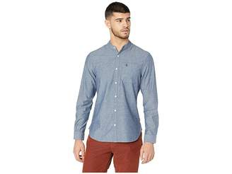 Original Penguin Long Sleeve Collarless Chambray Shirt