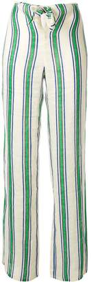 Tory Burch awning-stripe beach trousers