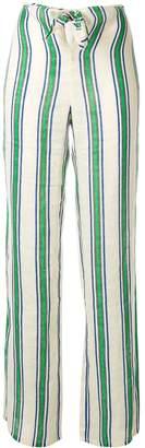 Tory Burch awning-stripe beach trousers