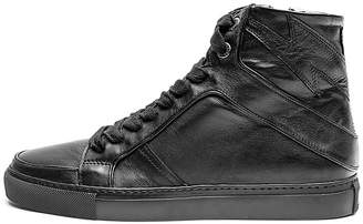 Zadig & Voltaire Women's Zv1747 High Flash Leather Sneakers