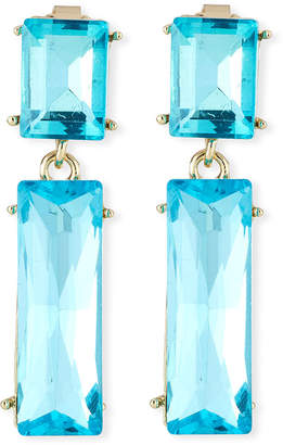 Emily and Ashley Greenbeads By Crystal Double-Drop Earrings, Turquoise