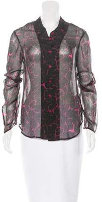 Theyskens' Theory Silk Button-Up Top