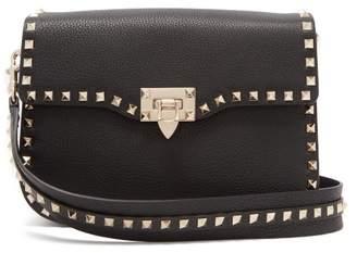 Valentino - Rockstud Medium Shoulder Bag - Womens - Black