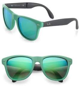 Ray-Ban 50MM Folding Square Rubber Wayfarer Sunglasses