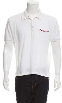 Thom Browne Single Pocket Pique Polo Shirt