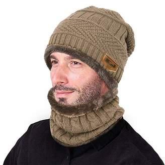 971892b7816 Clothing Stretchy Knit Beanie Cap Elastic Neck Warmer Snugly Fit for Men  Women Ladies Girls Boys ...