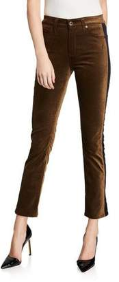 AG Jeans Mari Straight-Leg Tuxedo Stripe Jeans