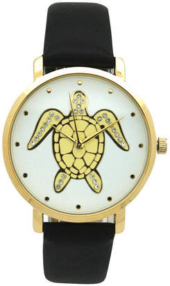 OLIVIA PRATT Olivia Pratt Pop Sea Turtle Womens Black Strap Watch-A917404black