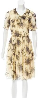 Jason Wu Silk Floral Print Dress